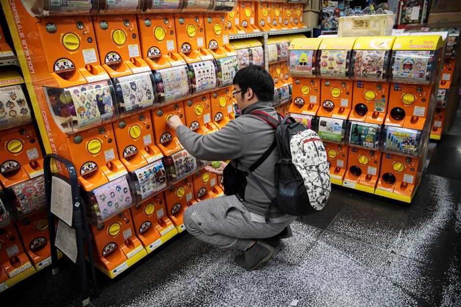 Japan going gaga over tiny toys