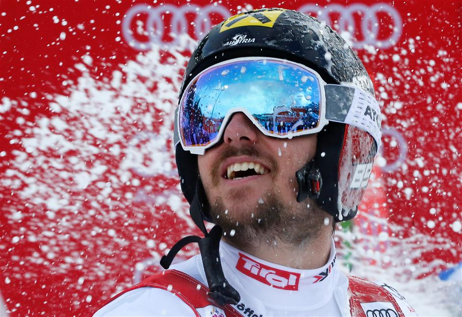 Hirscher breaks Tomba's record with 5th GS win in Alta Badia