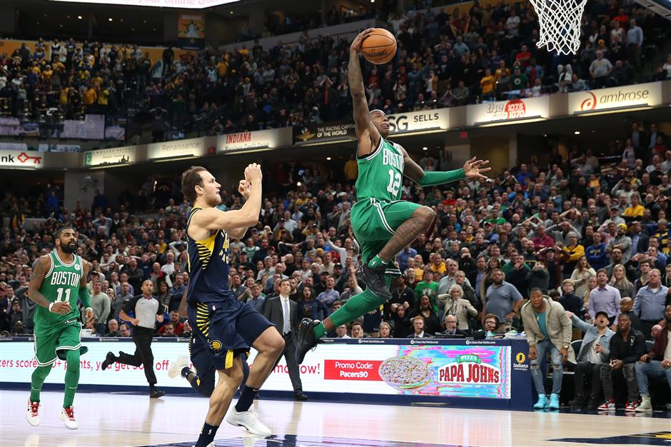 Celtics edge Pacers on Rozier's steal and layup