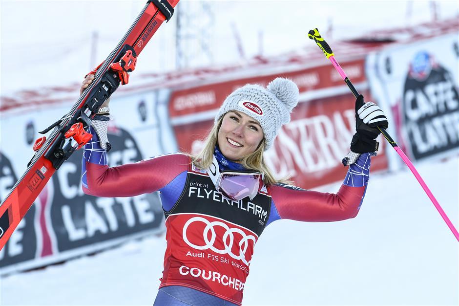 Slick Shiffrin storms giant slalom in France