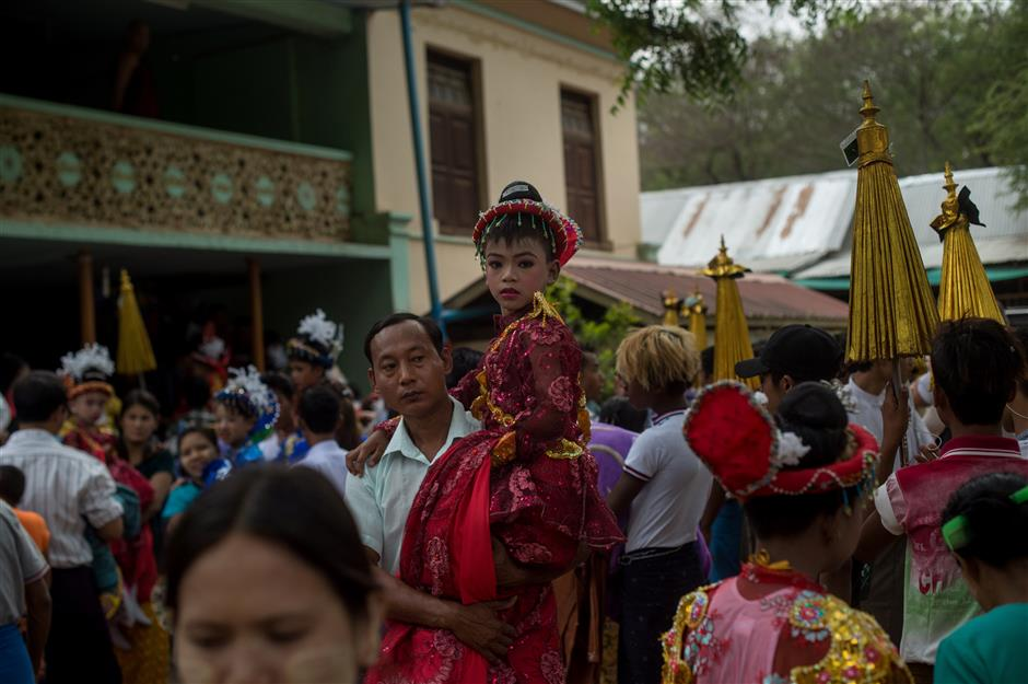Myanmar's child monks become royalty for a day