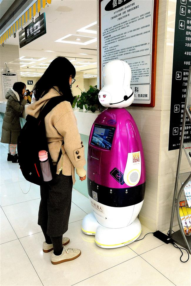 Robot starts work at city hospital
