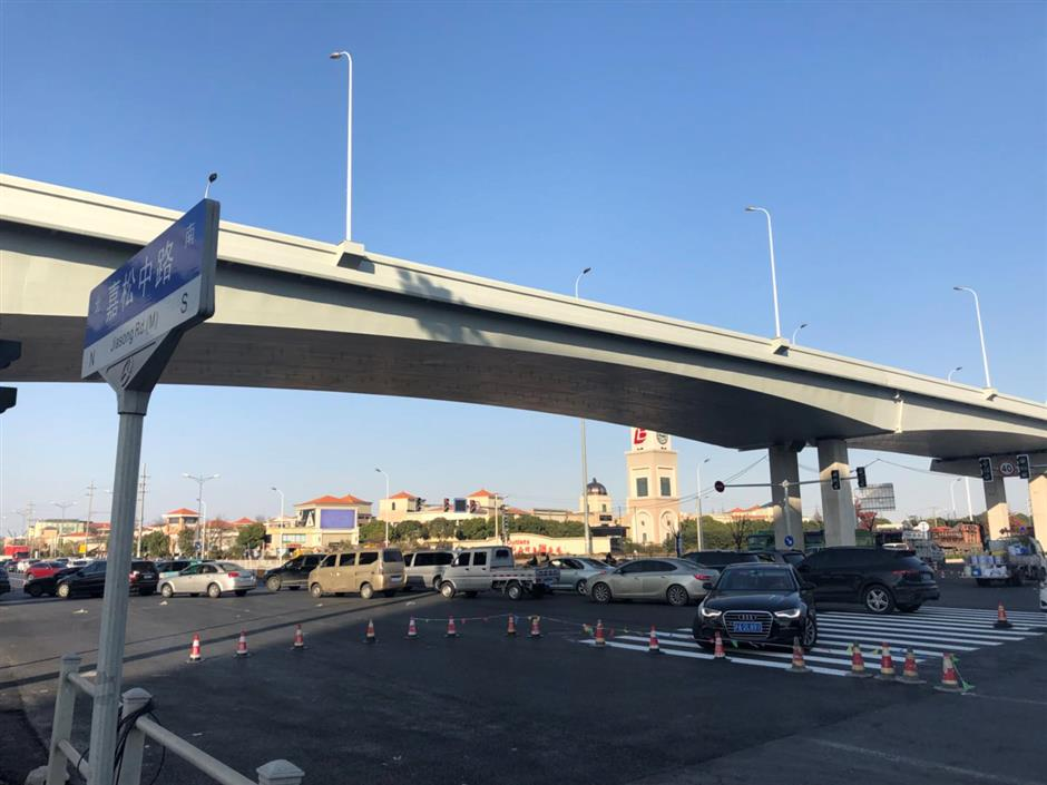New elevated road to relieve traffic in Qingpu