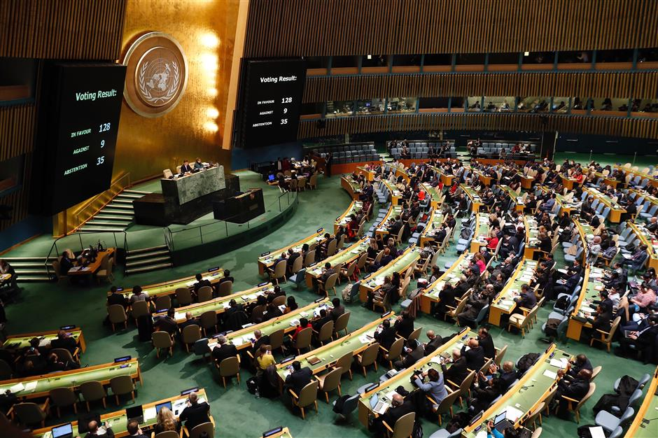 UN General Assembly adopts resolution on status of Jerusalem