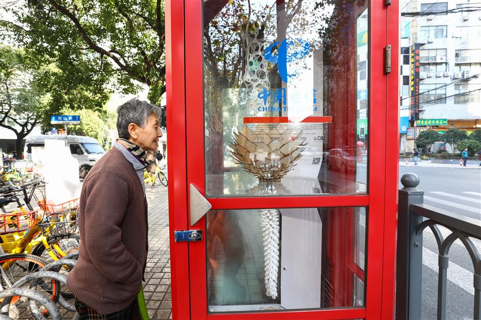 Old phone boxes reborn as galleries