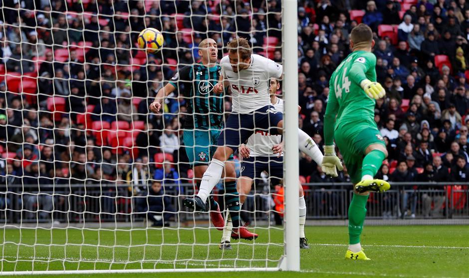 Kane strikes historic hat-trick as rampant Spurs hammer Southampton