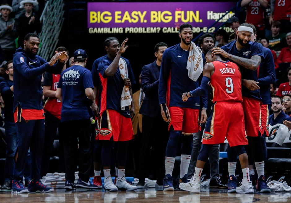 Pelicans' Rondo tallies 25 assists for highest total in 21 years