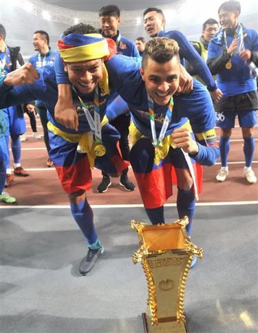 Shenhua captain Moreno linked to Nacional