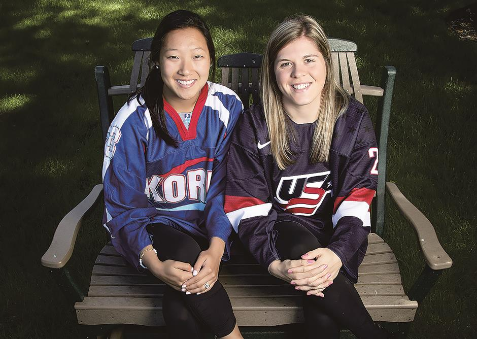 Sisters face off on opposing Olympic teams