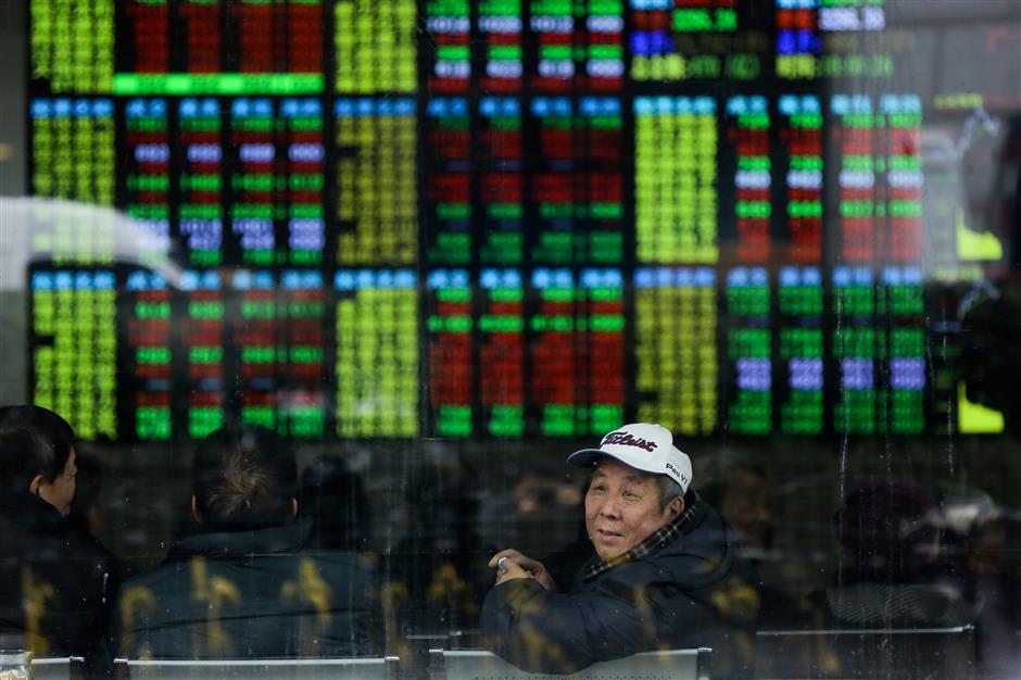 Shanghai stocks up 6.56% in 2017