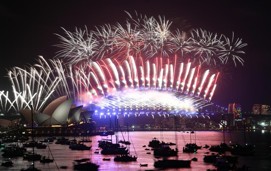 Spectacular fireworks, revelry as world welcomes New Year