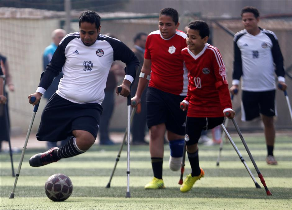 One-legged Egyptian soccer players aim for a league of their own