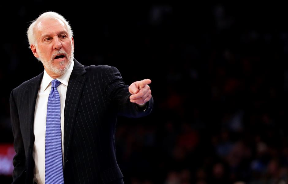 Popovich alone in 5th for coaching wins