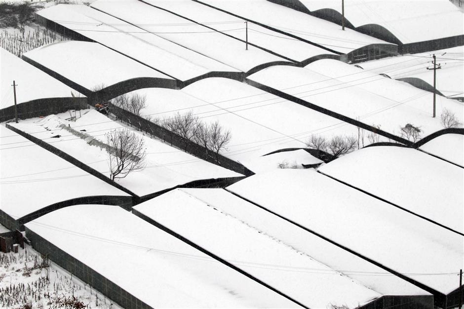Snow hits central, eastern China