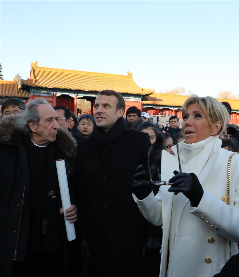 Macron visits Forbidden City
