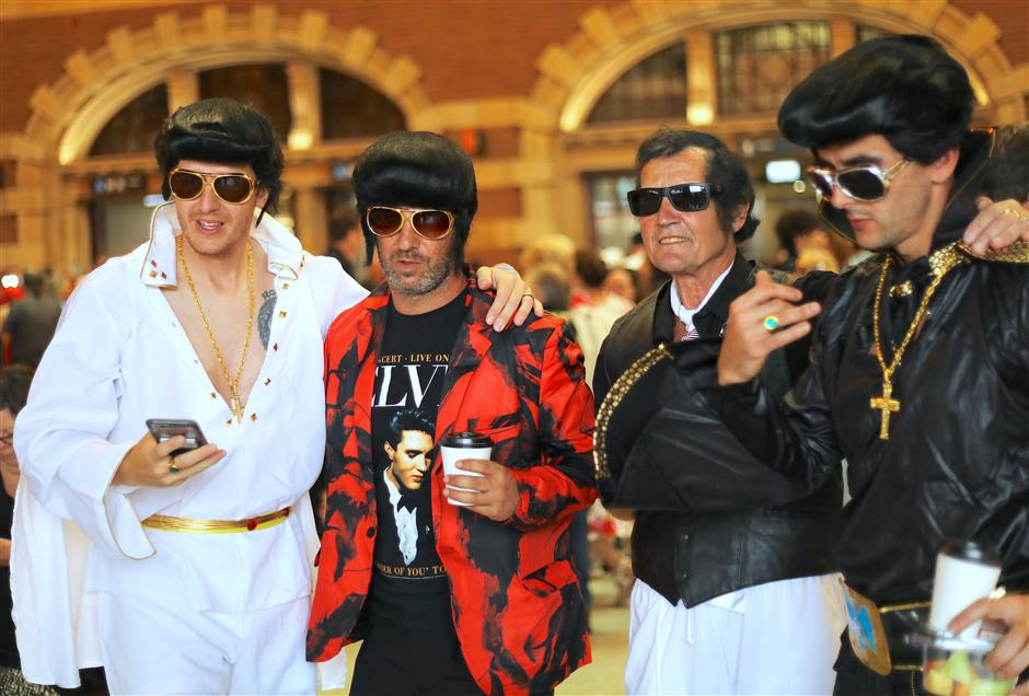 Elvis fans all shook up on Australia party train to annual fest