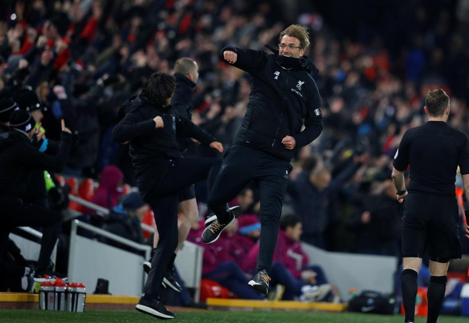 7-goal thriller at Anfield as Liverpool ends Manchester City's unbeaten run
