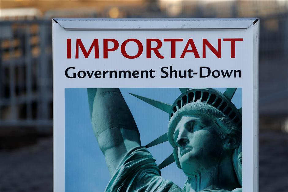 What happens in a US government shutdown?