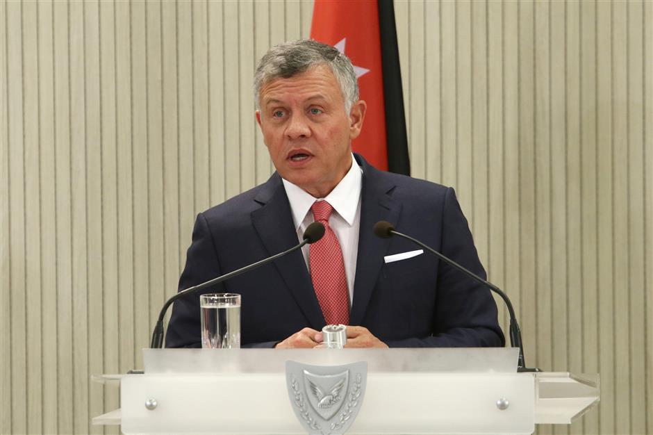 Jordan's king says East Jerusalem must be capital of Palestinian state