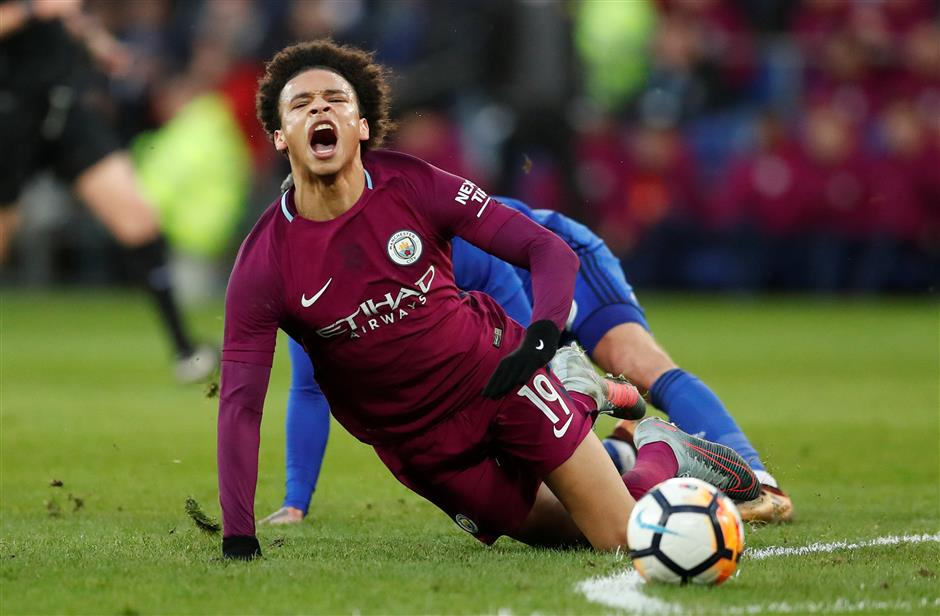 German FA attacks Cardiff after City's Sane injured in Cup clash