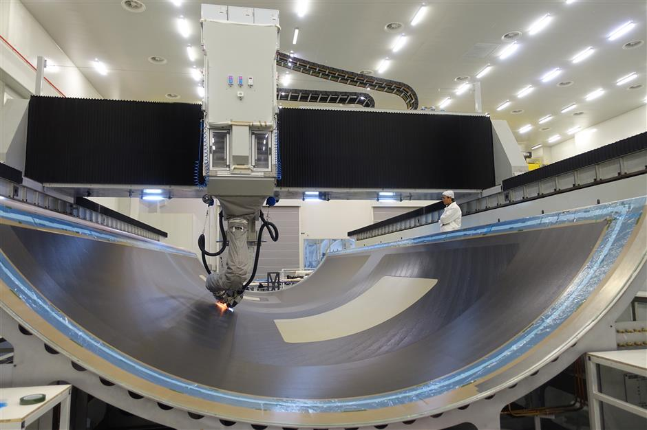 Composite material tested for long-haul jet