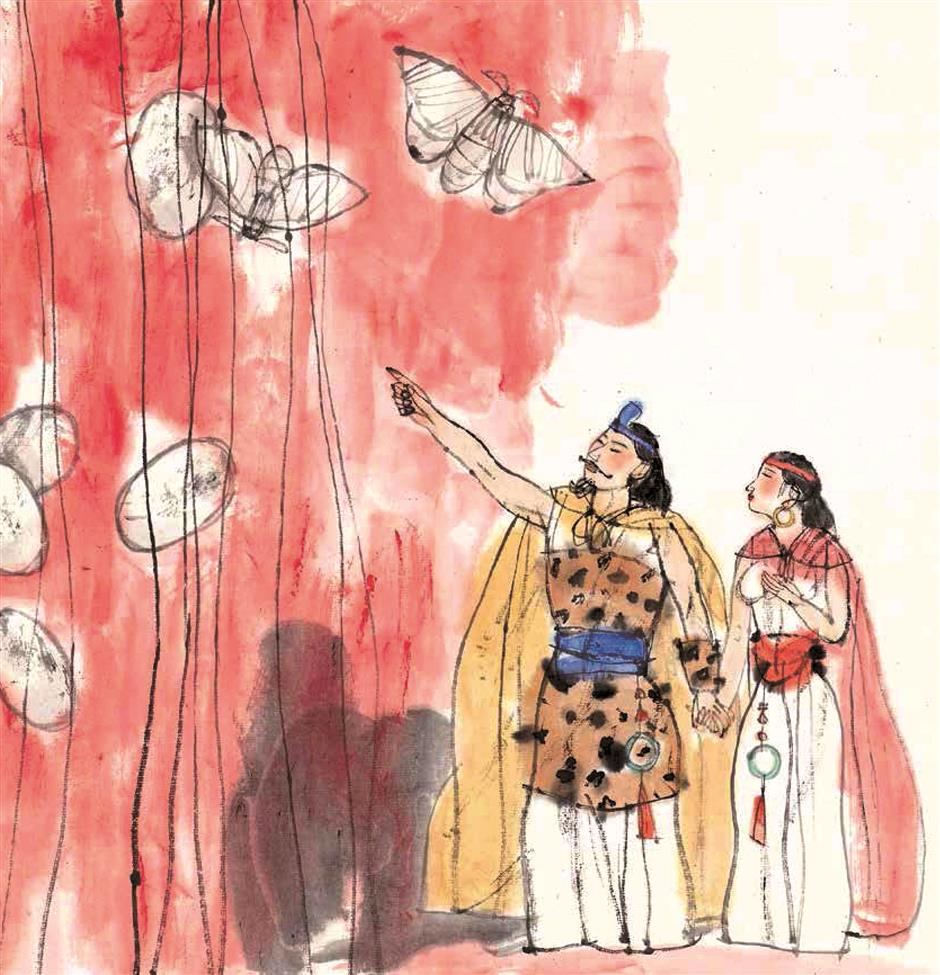 'Queen of Textiles' is a silkworm fairy tale
