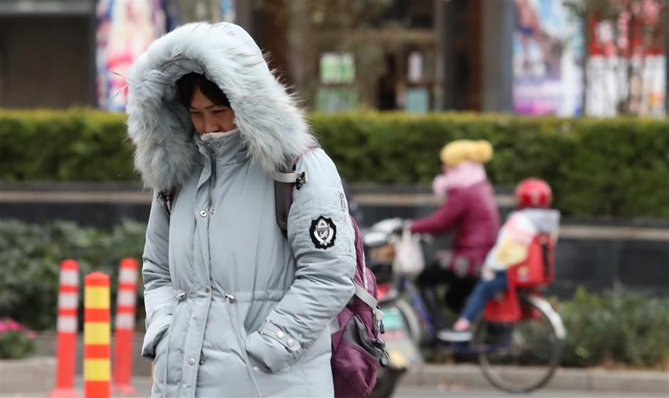Cold front to chill China