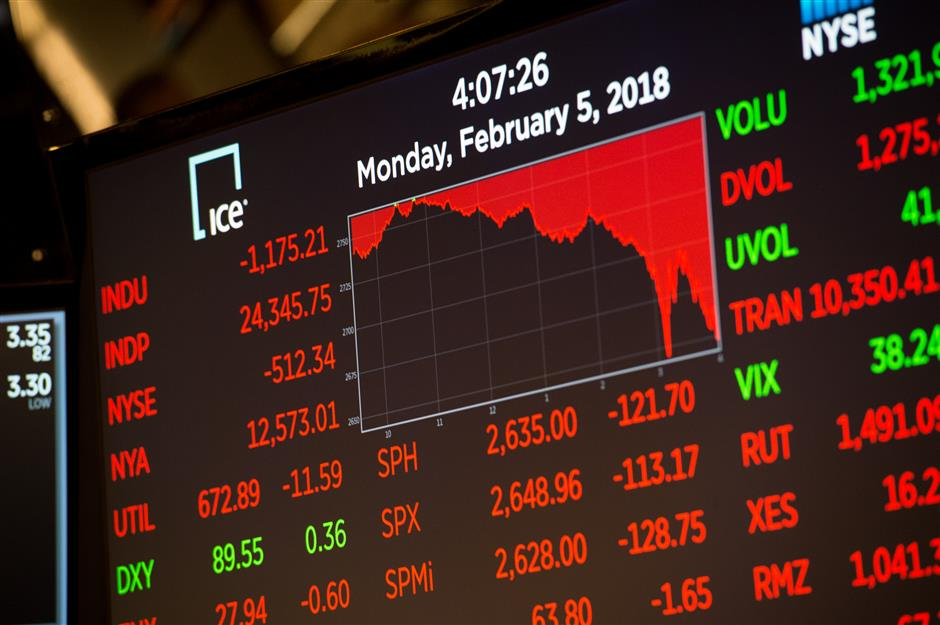 Wall Street stocks plunge in chaotic session