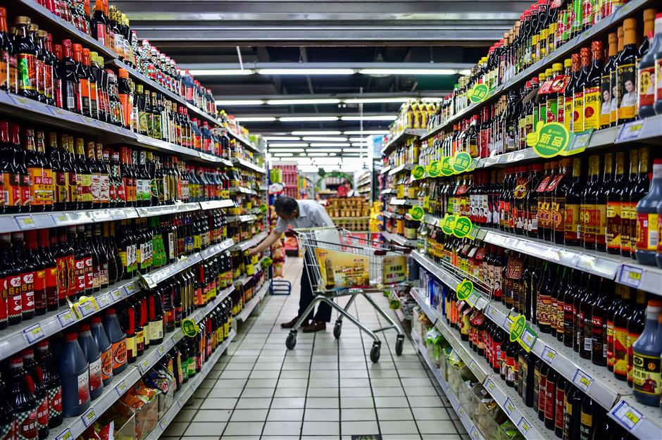 Sales of fast moving consumer goods rise in China