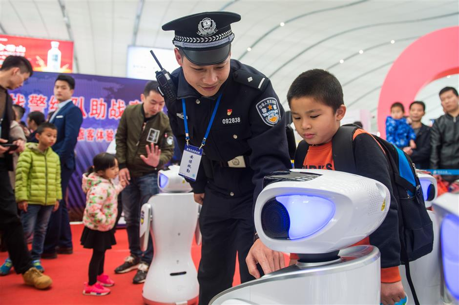 Robocops guard Spring Festival travelers