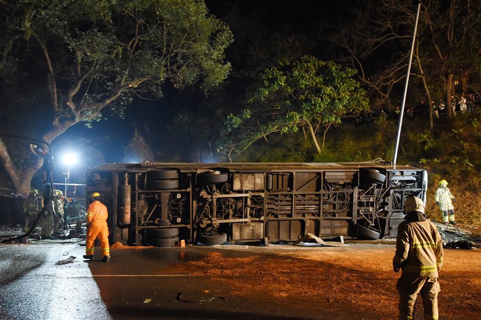 HK probes bus crash after 19 killed