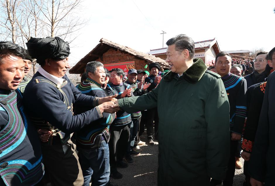 Xi stresses difficulty, urgency of poverty alleviation