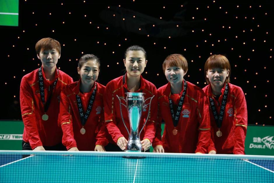 China win ITTF Team World Cup titles