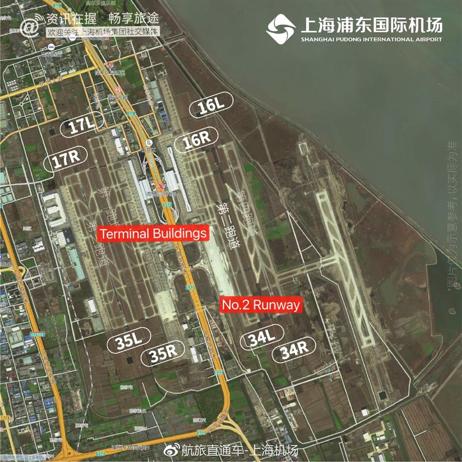 Pudong airport deploys low-visibility landing system