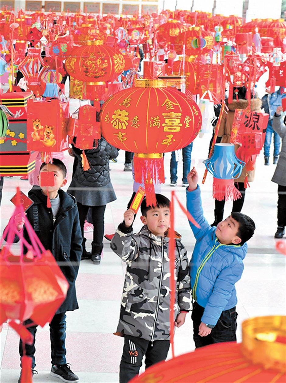 Lanterns light up the festival