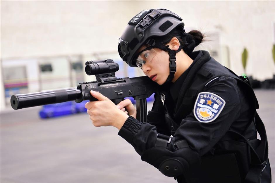 Athlete becomes crackerjack SWAT woman police officer