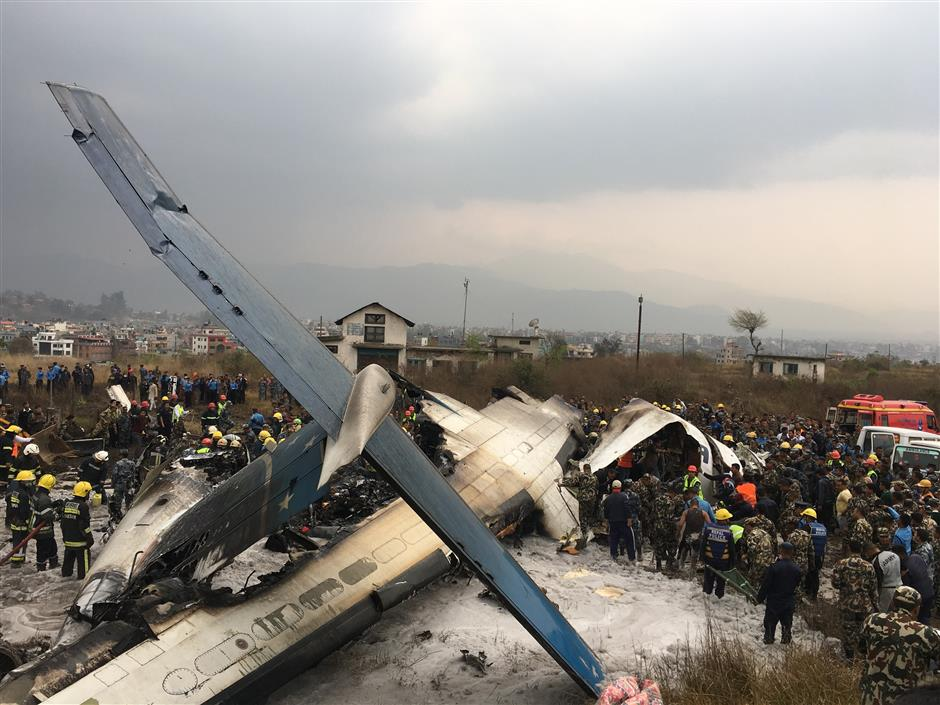 At least 49 killed, 17 injured in US-Bangla Airlines in Nepal