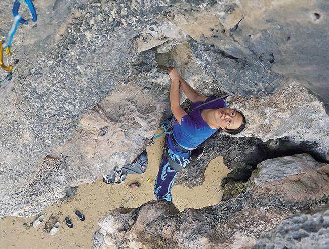 Women getting hooked on rock climbing