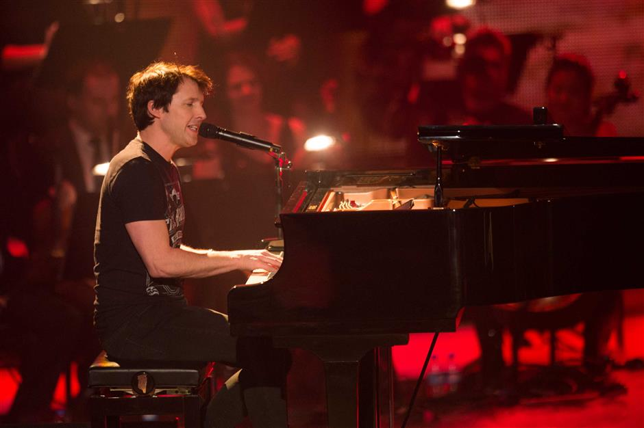 James Blunt returns to Shanghai after 4 years