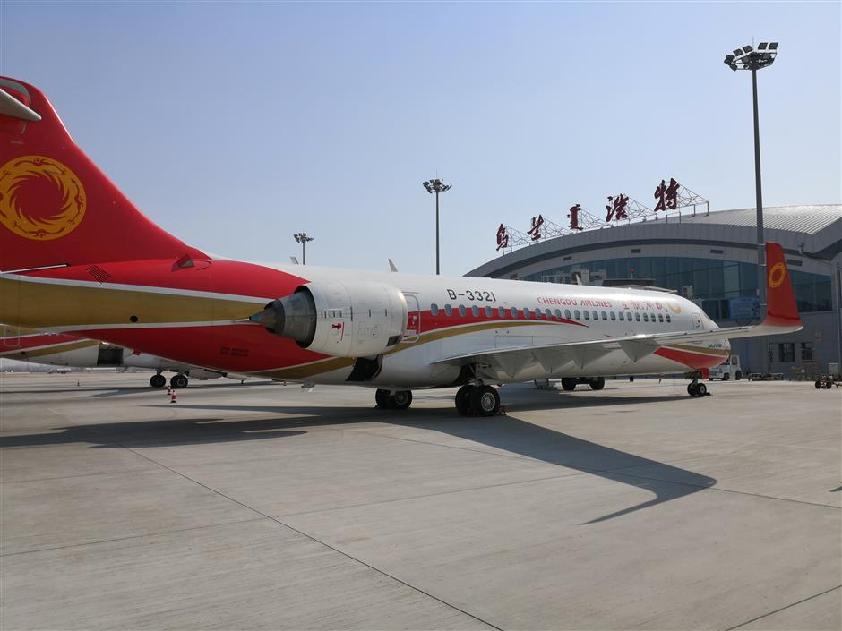 Chinese-produced ARJ21 launches 10-day 'demonstrative