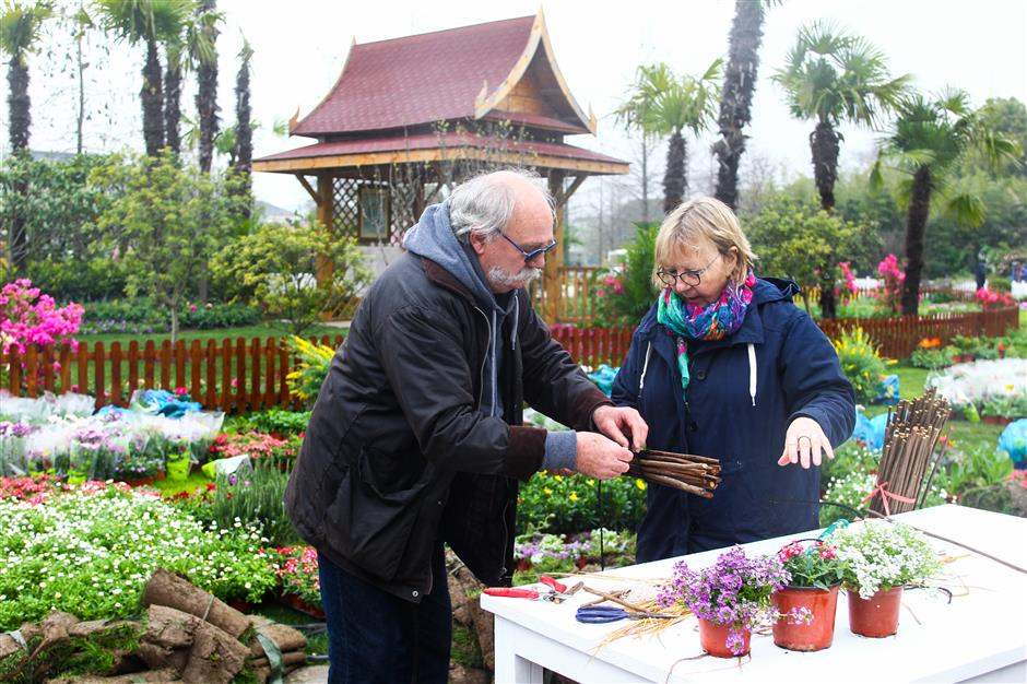 Shanghaiinternational flower exhibition starts on Thursday