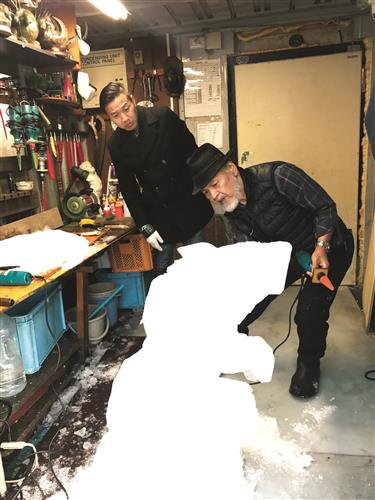 Iceman at the cutting edge of his art