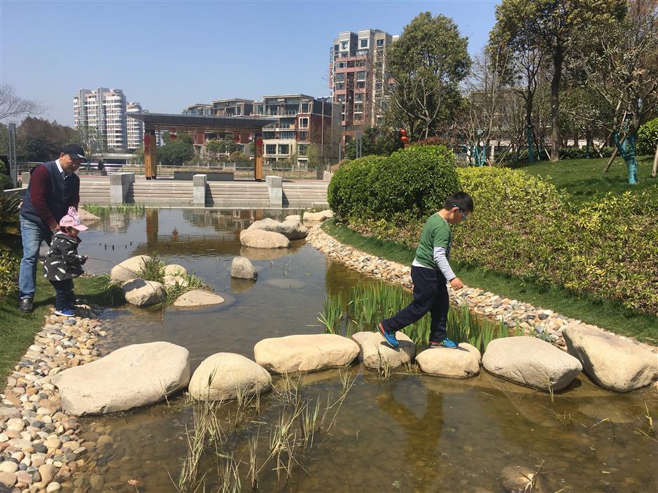 'Sponge park' to store rainwater