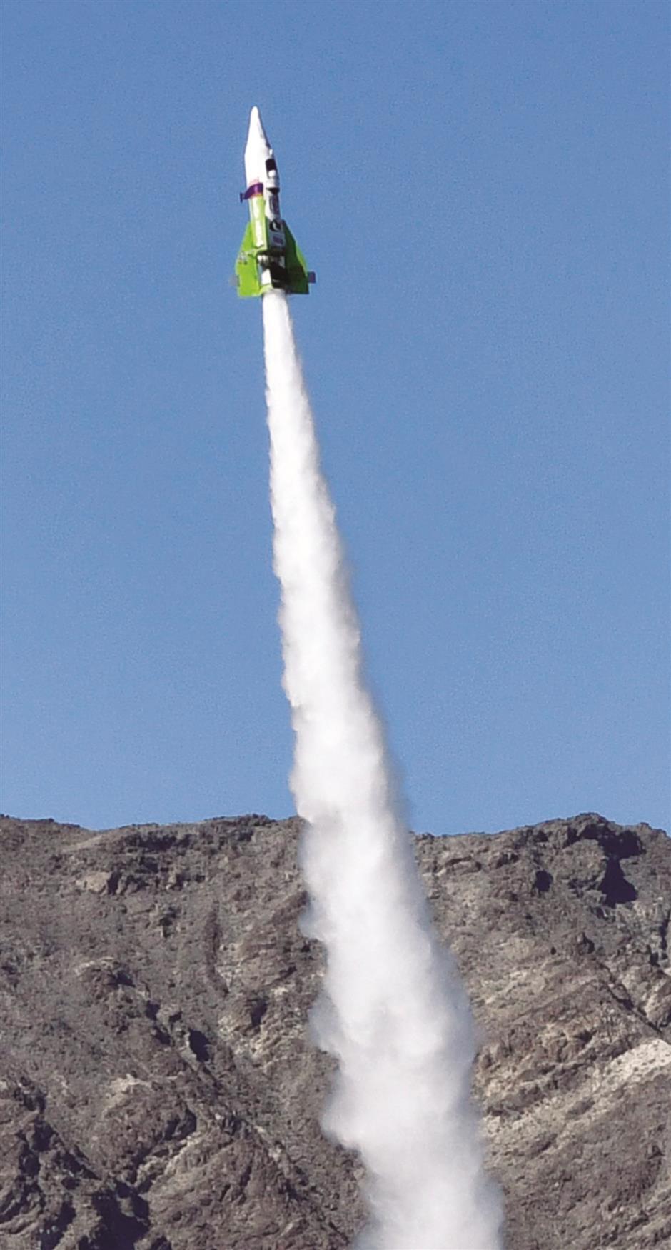 Self-taught rocket scientist finally blasts off