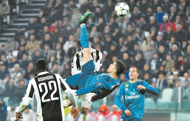 Ronaldo Hailed For Bicycle Kick Goal Shine News