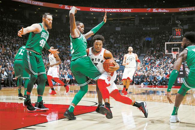 Raptors rout Celtics, hot Sixers knock Pistons out of playoff race