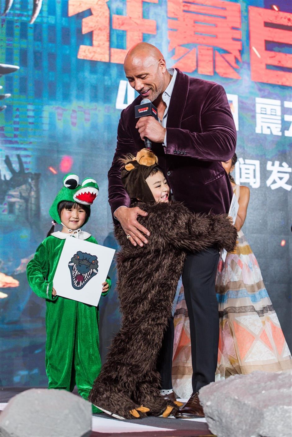 'Rampage'is let loose in Shanghai