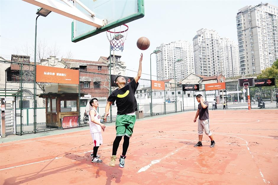 New courts for Jing'an basketball fans