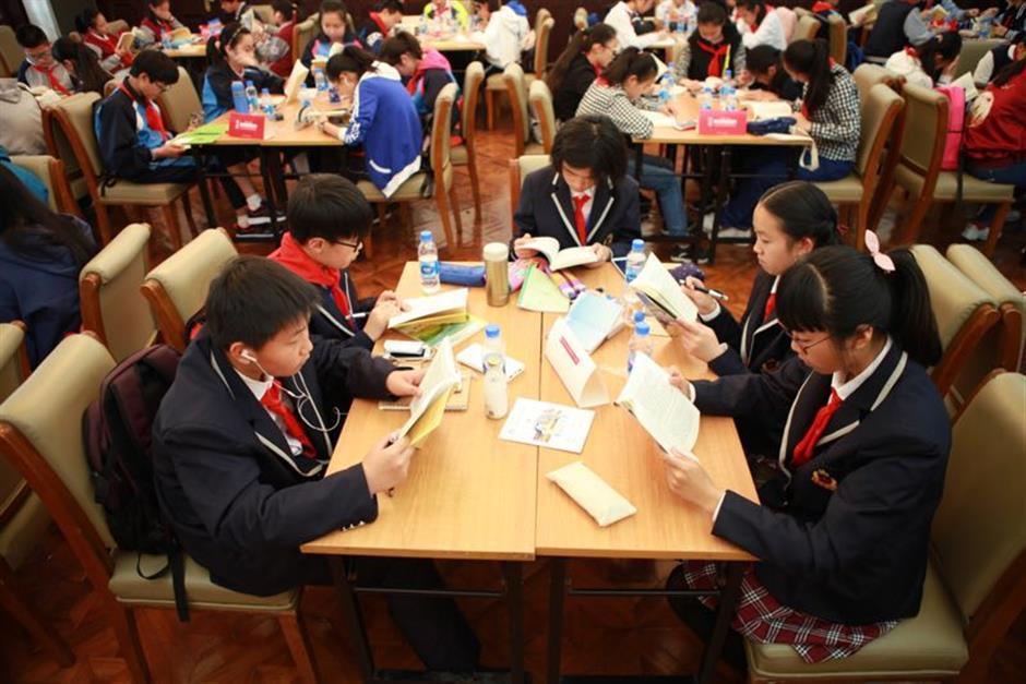 Reading activities held around the city mark World Book Day