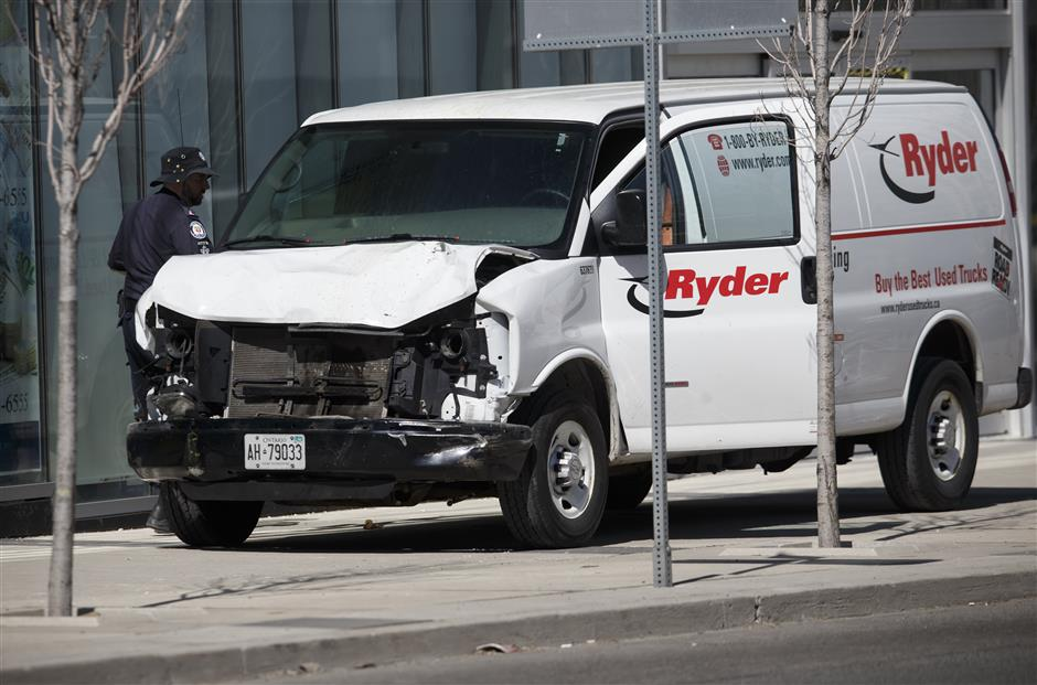 Death toll in Toronto van attack increases to 10